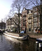 canal boat Amsterdam